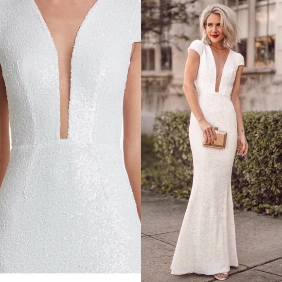 3ecc21371bf Dress Michelle white sequin gown Wedding Bride
